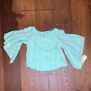 GB girls Shirts & Tops - Girl's blue off the shoulder top